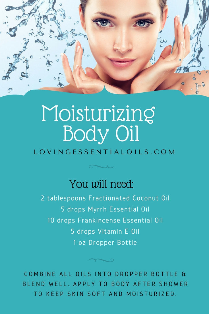 DIY Moisturizing Body Oil Recipe With Essential Oils;