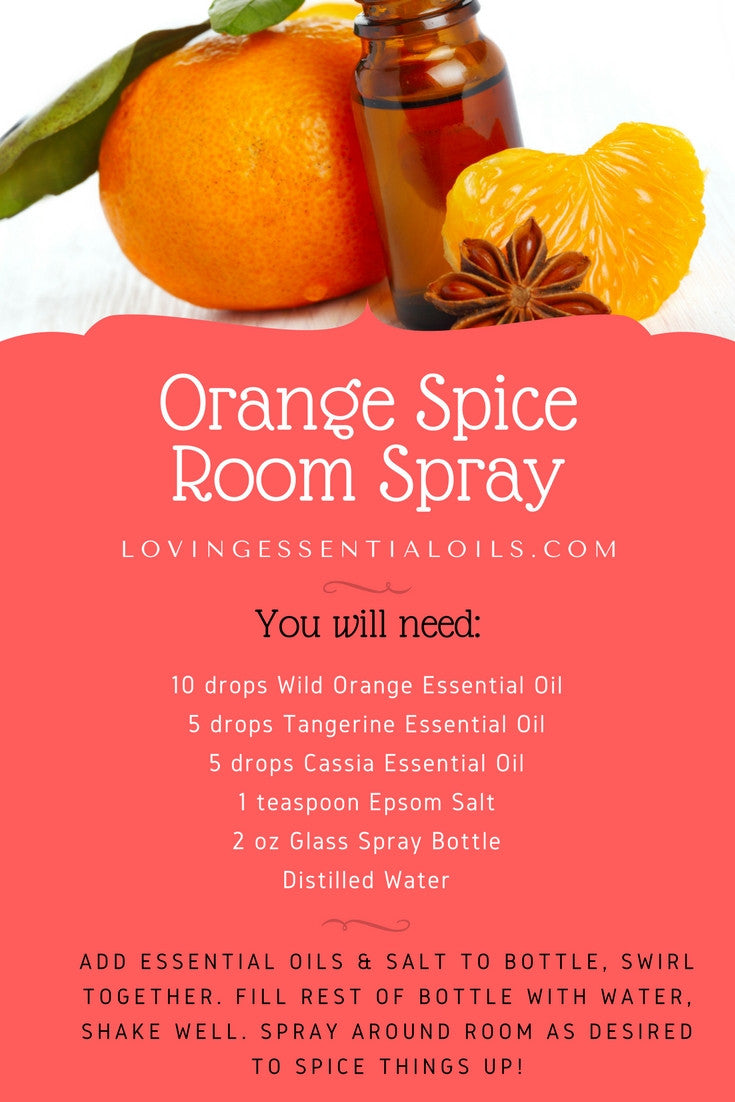 DIY Orange Spice Essential Oil Room Spray Recipe