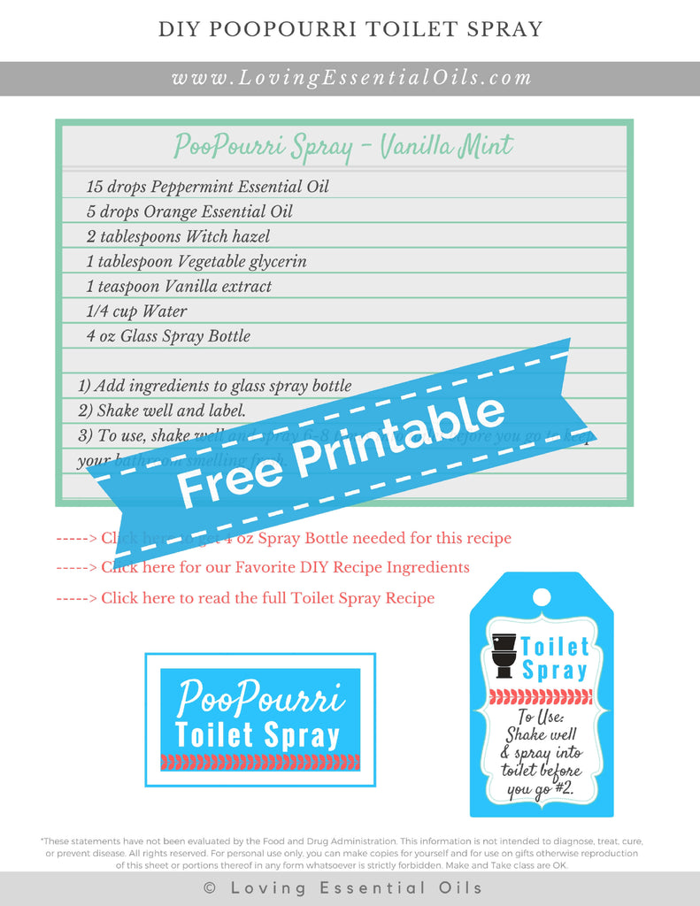 diy poopourri toilet spray recipe - freshen before you go