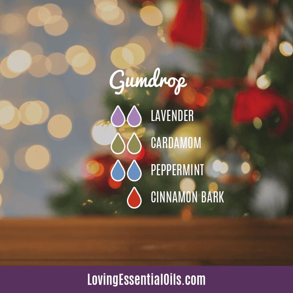 Essential Oil Blends for Winter - gumdrop with lavender, cardamom, peppermint, and cinnamon bark