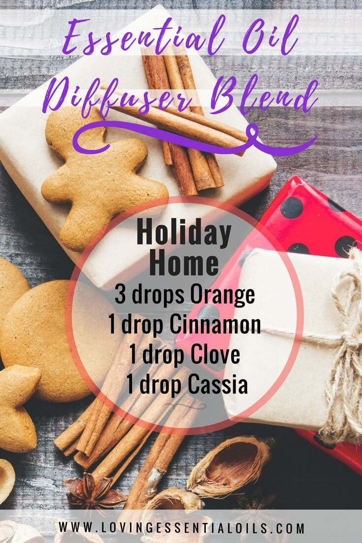 Holiday Essential Oil Diffuser Recipes