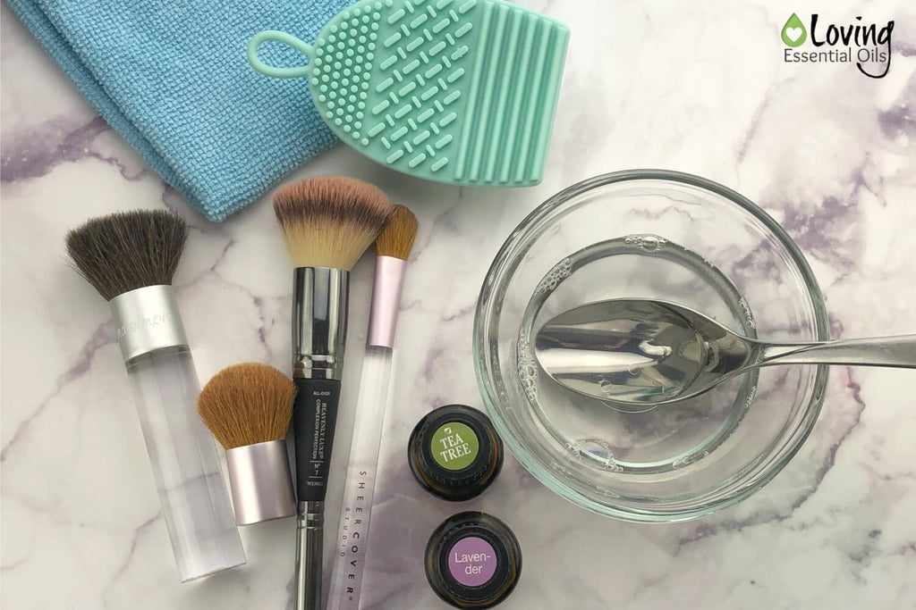 Essential Oil Makeup Brush Cleaner (Simple Yet Effective!) by Loving Essential Oils