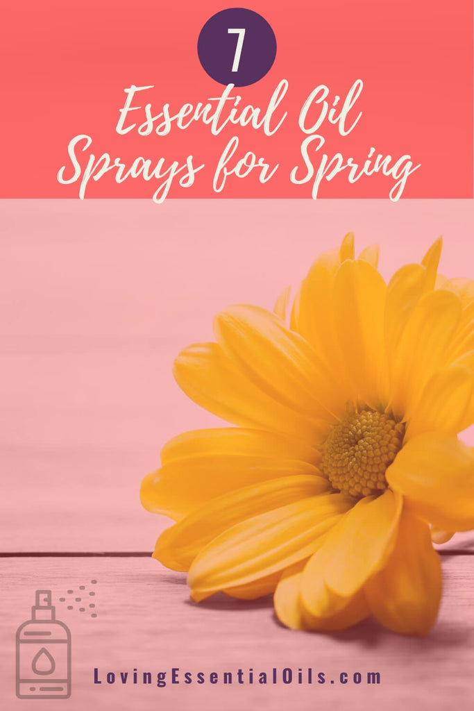 Essential Oil Sprays for Spring by Loving Essential Oils - Bring seasonal delight with these aromatherapy room sprays that are spring inspired.