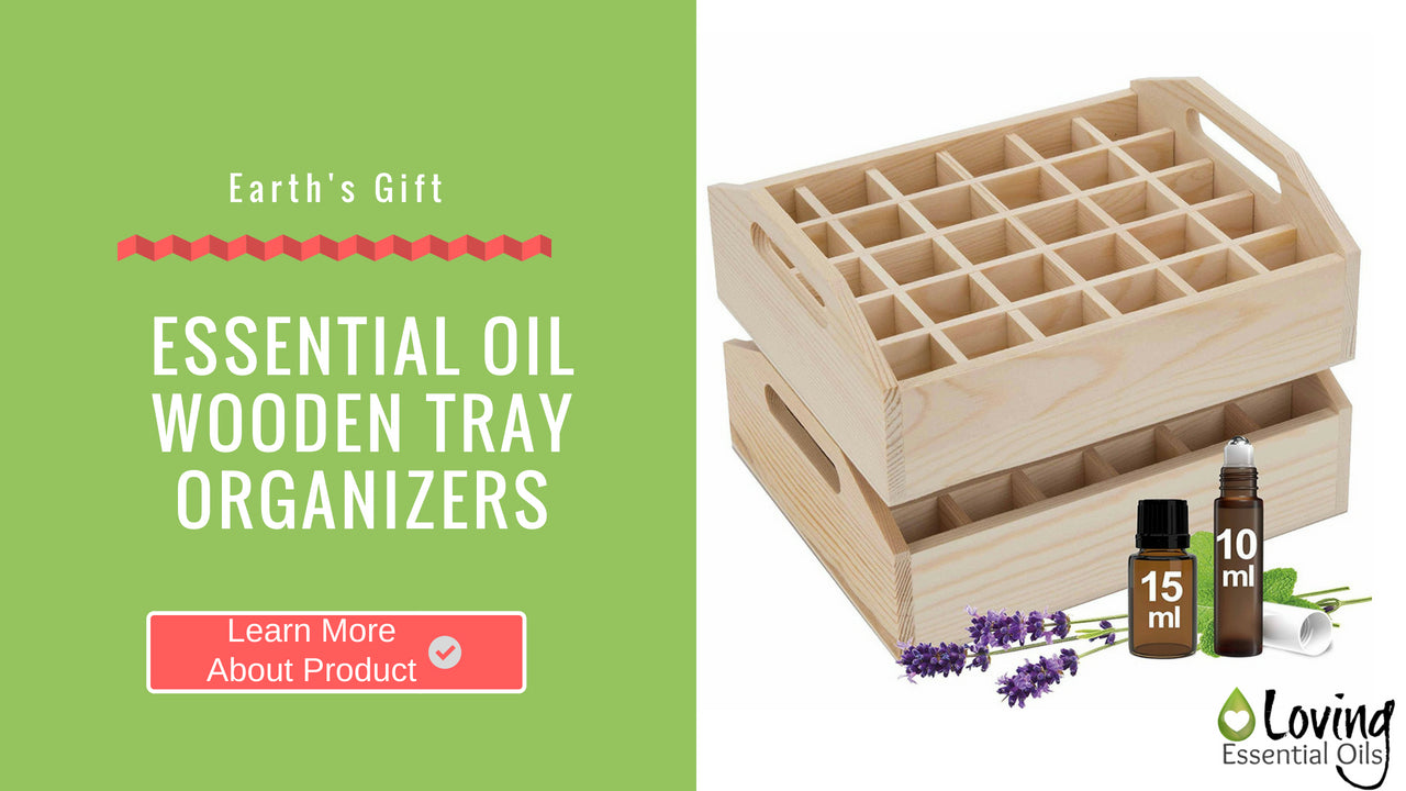 Essential Oil Wooden Tray Organizers