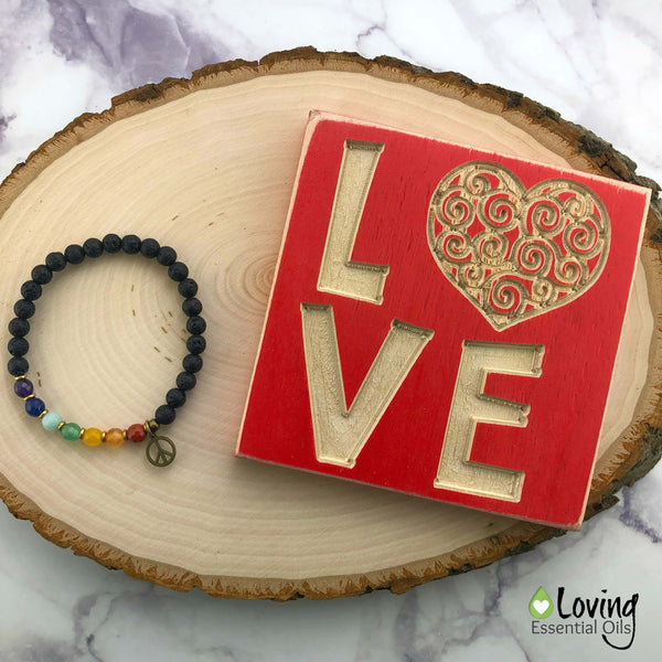 How to Become Balanced with a Chakra Stone Bracelet by Loving Essential Oils