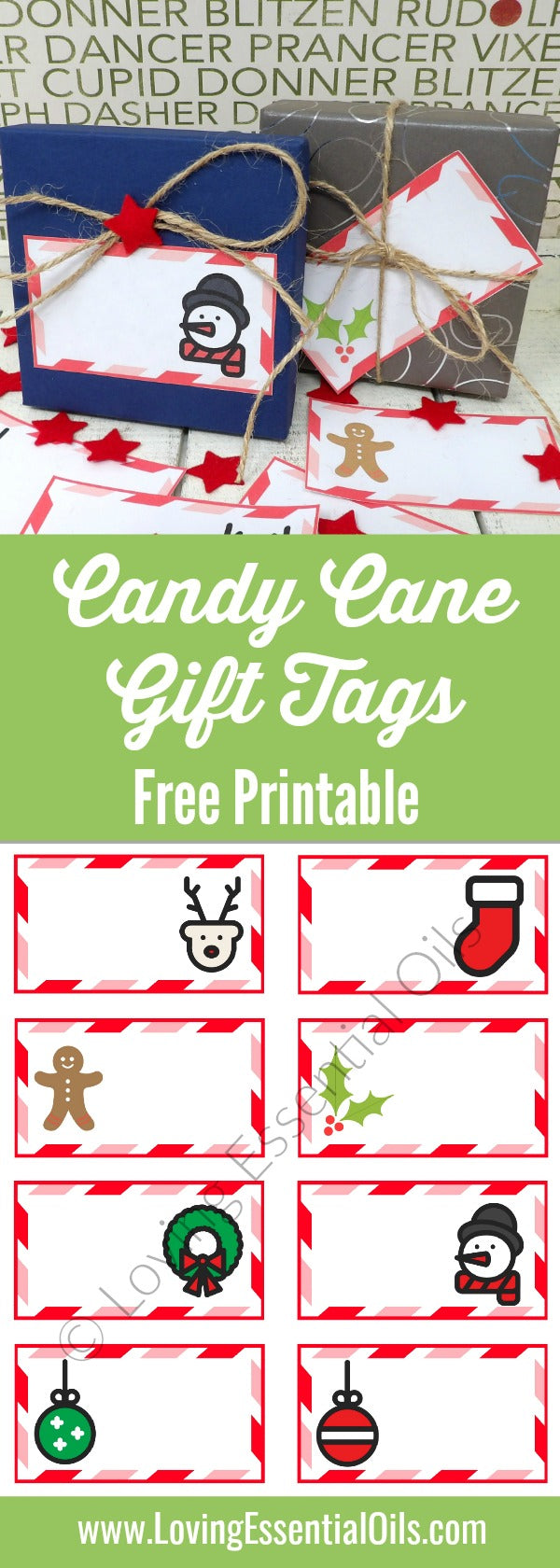 Free printable gift tags for christmas candy cane theme loving free printable gift tags for christmas candy cane theme by loving essential oils negle Images