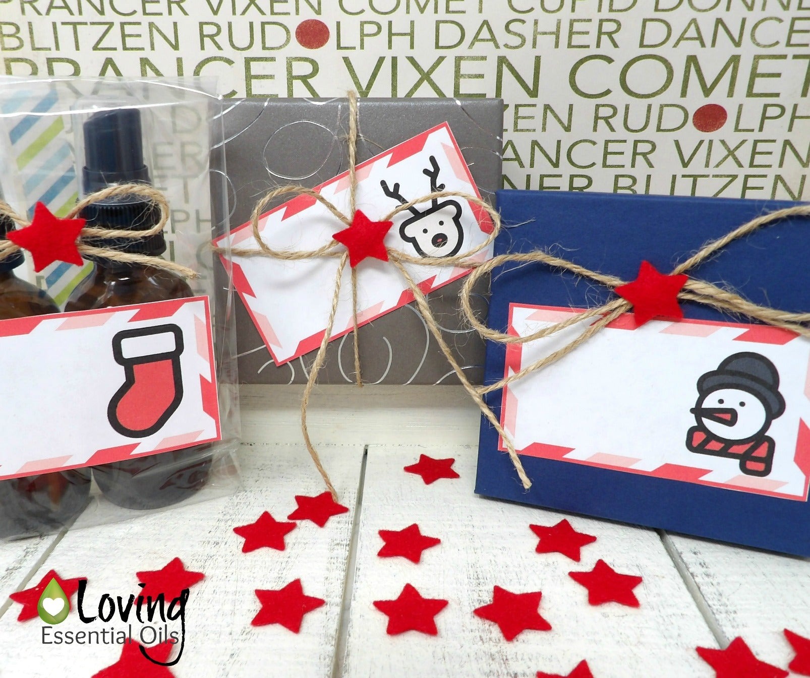 Free Printable Gift Tags For Christmas - Candy Cane Theme | Loving ...