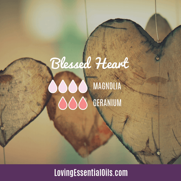 Geranium Essential Oil Diffuser Blends - Blessed Heart by Loving Essential Oils