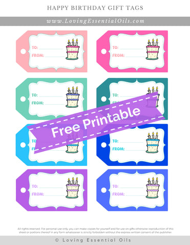 #10 Happy Birthday Gift Tags