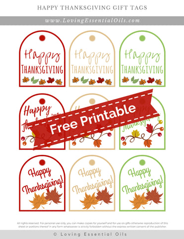 #16 Happy Thanksgiving Gift Tags
