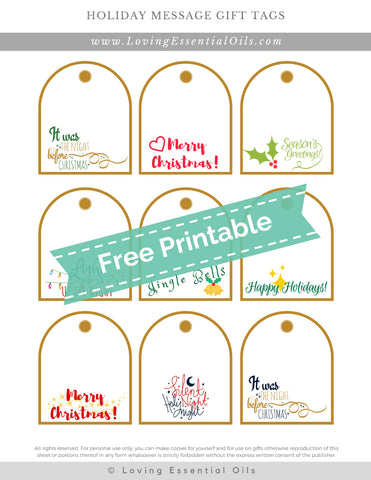 #6 Holiday Message Gift Tags