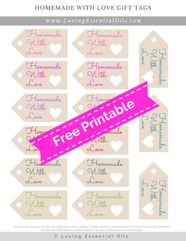 #27 Homemade With Love Gift Tags: