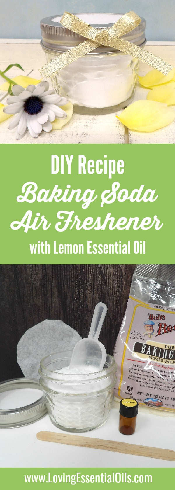 Homemade Baking Soda Air Freshener With Lemon Essential Oil