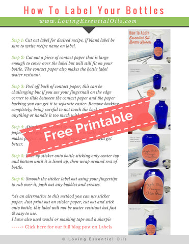 #11 How To Use Printable Bottle Labels
