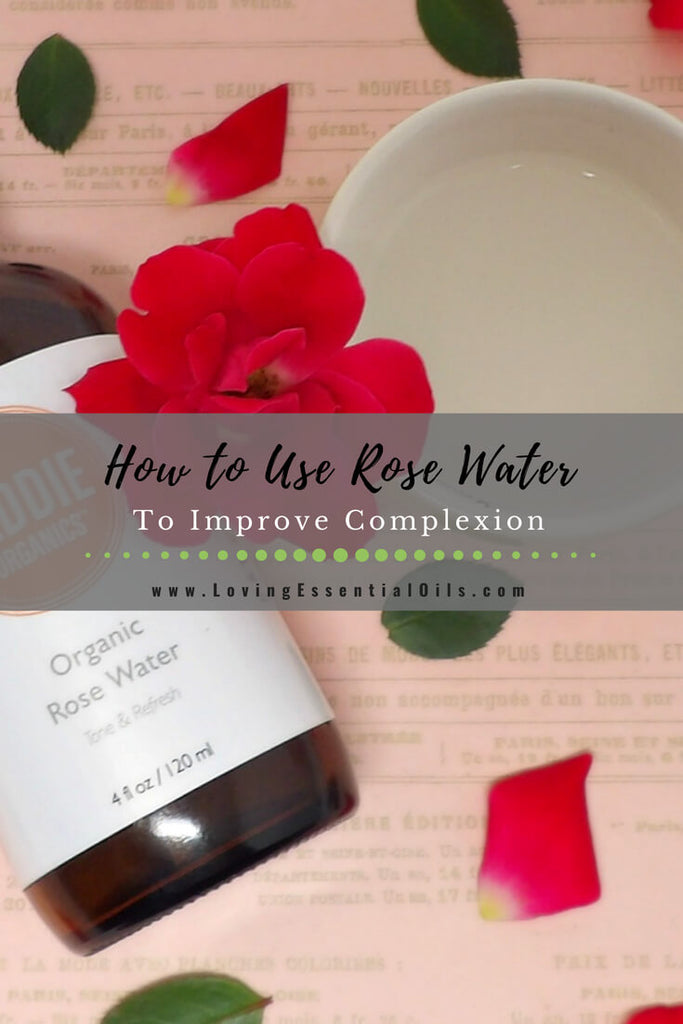 how to use rose water