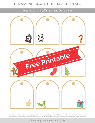 #7 Ink Saving Blank Holiday Tags