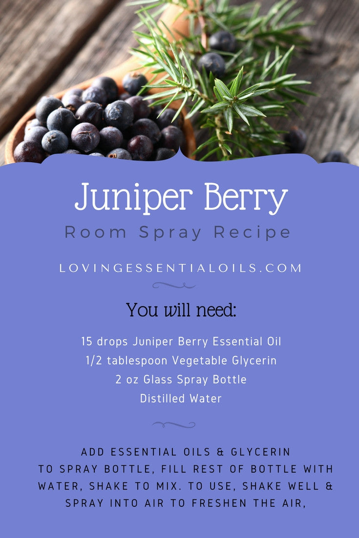 Juniper Berry Essential Oil Room Spray Recipe