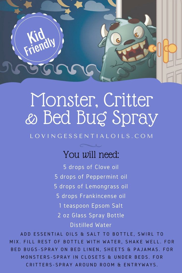 Monster Critter & Bed Bug Essential Oil Spray Recipes