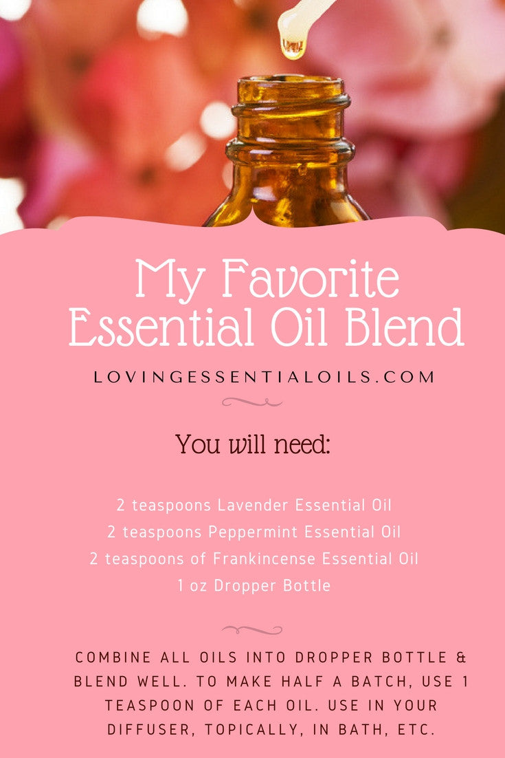 My Favorite Essential Oil Blend Dropper Bottle Recipe