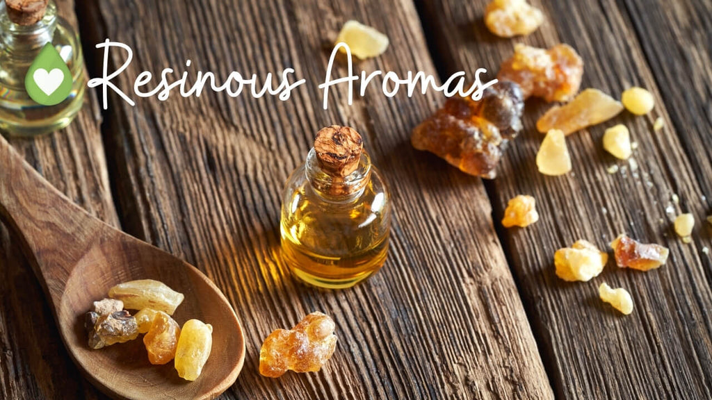 Resinous Aromas with cheat sheet for essential oils by Loving Essential Oils