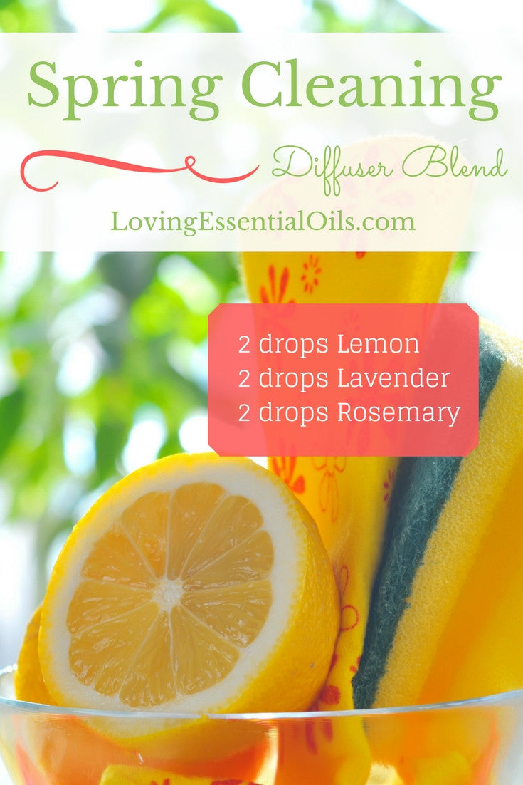 Spring Cleaning Essential Oil Diffuser Blend Lemon Lavender Rosemary