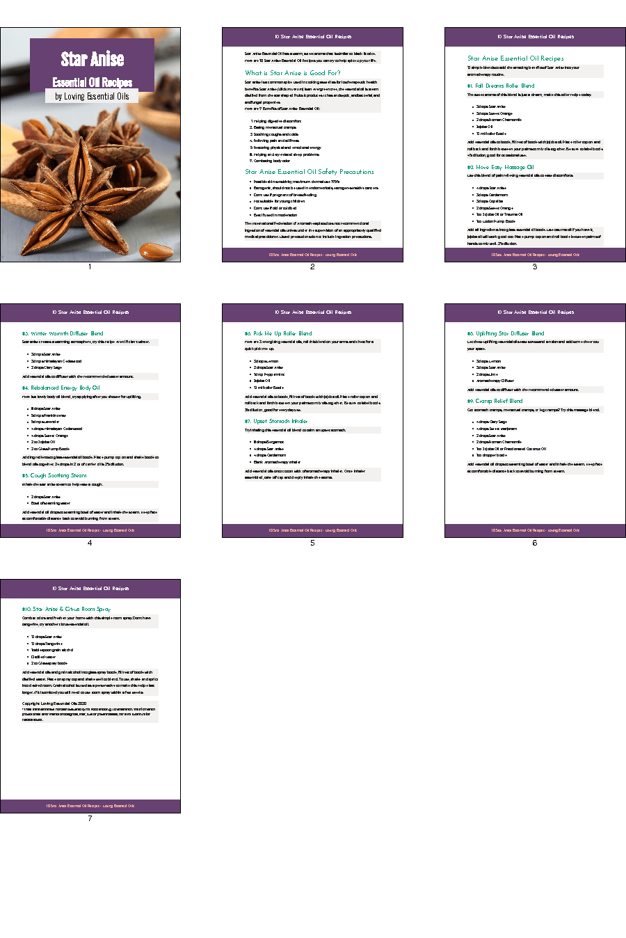 Star Anise Essential Oil eBook Recipe Guide by Loving Essential Oils