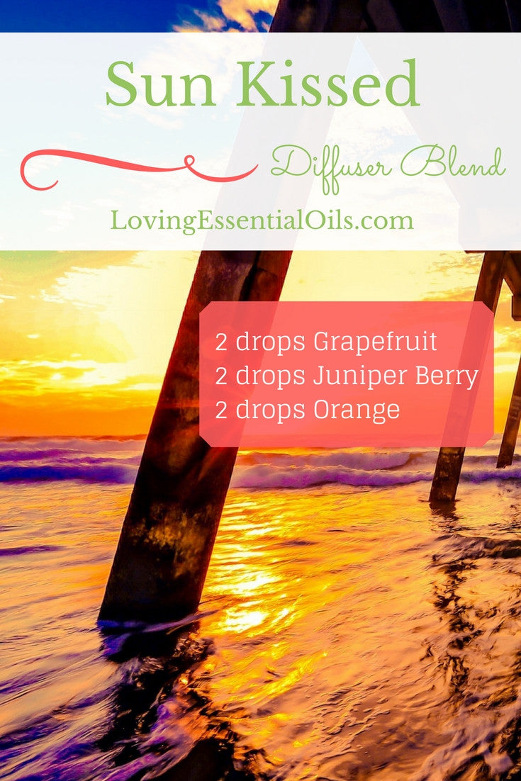 Sun Kissed Essential Oil Diffuser Blend with Grapefruit, Juniper Berry & Orange Oil