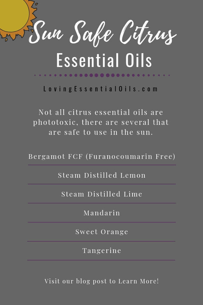 sun safe citrus essential oils - photosensitive essential oils