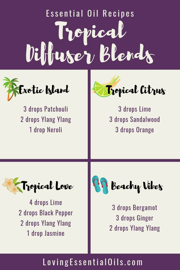 Tropical Essential Oils with Diffuser Blends by Loving Essential Oils