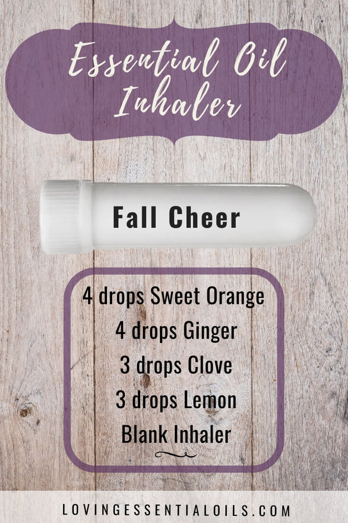 Uplifting Inhaler Blend for Autumn - Fall Cheer by Loving Essential Oils