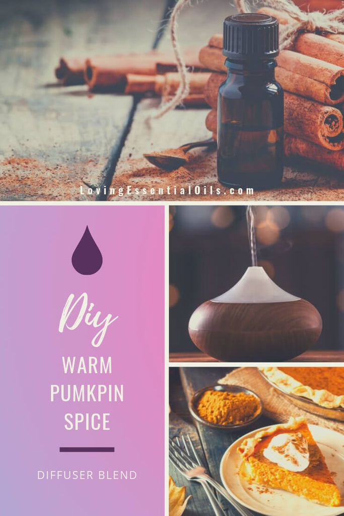 Warm Pumpkin Spice Essential Oil Blend - Fall Essential Oil Diffuser Blends with cinnamon, ginger, clove and cardamom