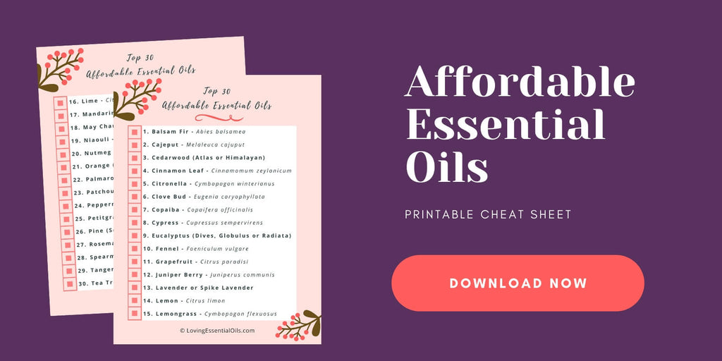 Affordable Esssential Oils Guide - Free Printable by Loving Essential Oils