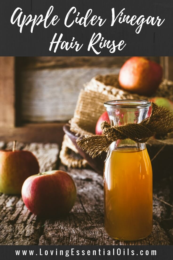 Recipe for Apple Cider Hair Rinse With Lavender and Rosemary Essential Oil by Loving Essential Oils