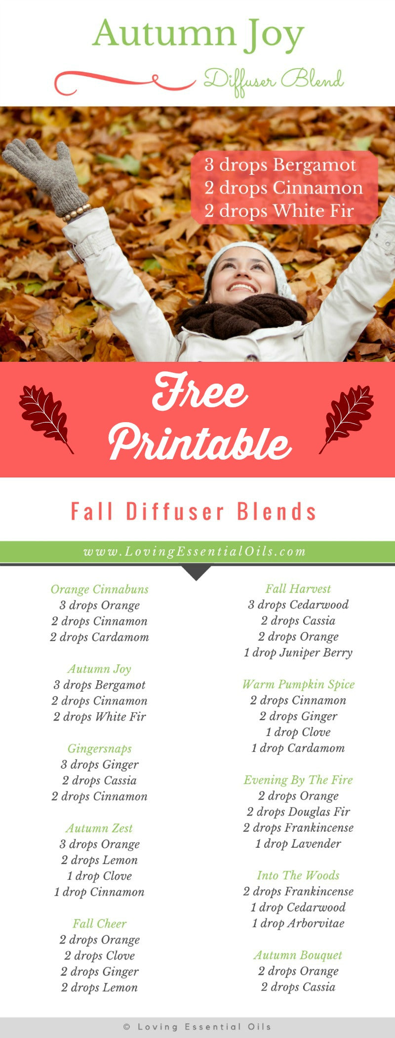 Autumn Joy - Essential Oil Diffuser Blends For Fall by Loving Essential Oils