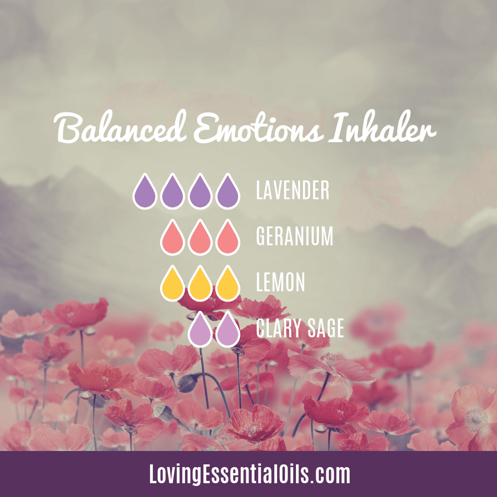 Balanced Emotions Inhaler Recipe with Geranium by Loving Essential Oils
