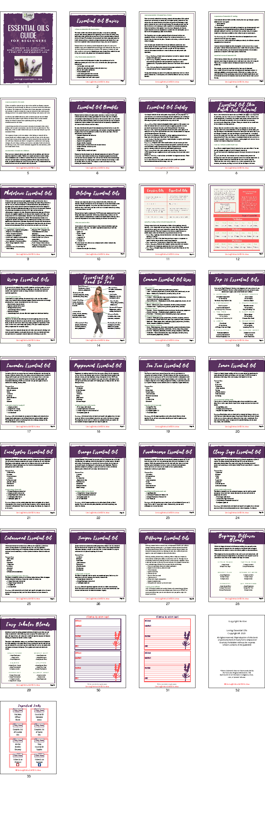 Beginner's essential oil guide pdf by loving essential oils