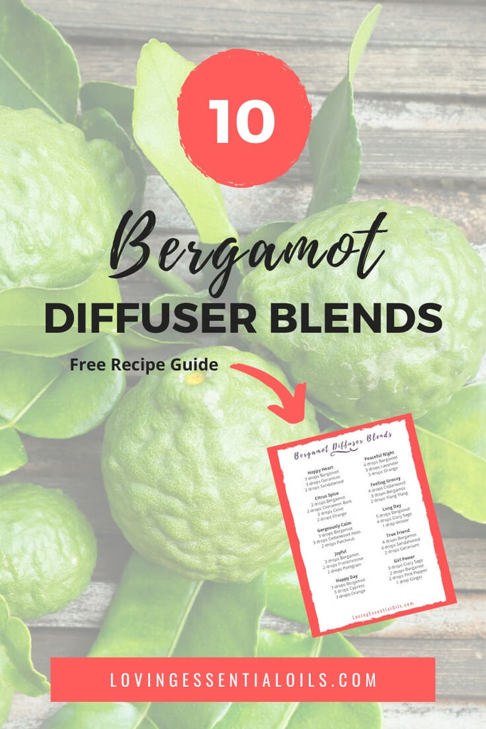 Bergamot Essential Oil Diffuser Recipes - Free Printable Cheat Sheet with Recipes