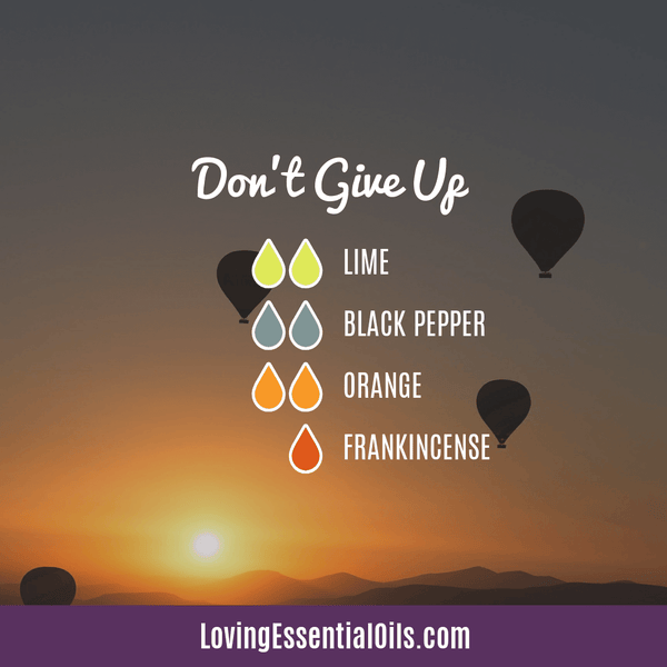 Black Pepper Diffuser Blend - Don't Give Up by Loving Essential Oils