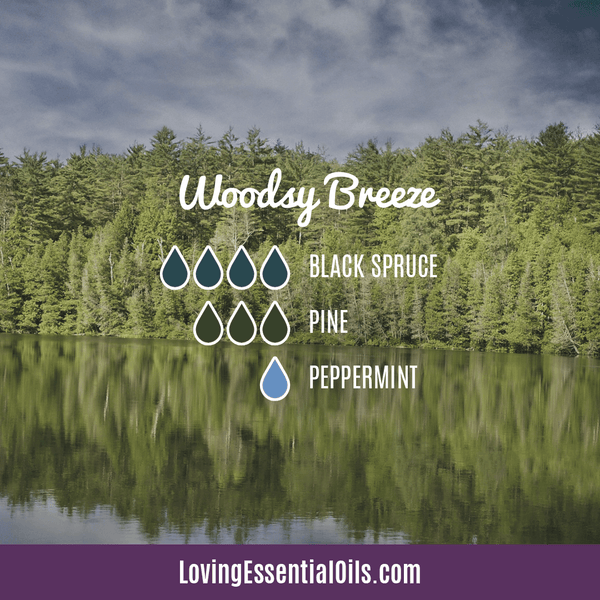 Black Spruce Essential Oil Diffuser Blend - Woodsy Breeze by Loving Essential Oils