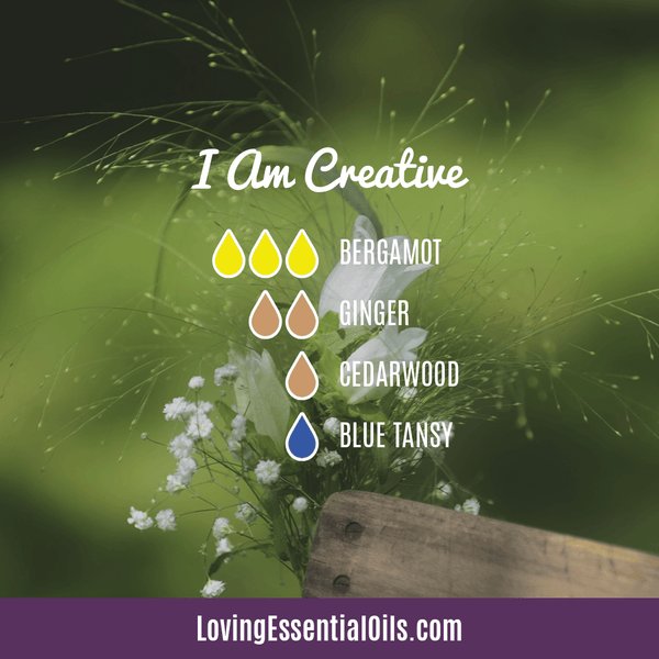 Blue Tansy Essential Oil Uses, Beneifts & Recipes - I Am Creative Diffuser Blend by Loving Essential Oils