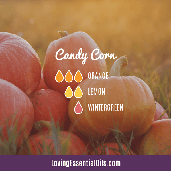 Candy Corn Diffuser Blend by Loving Essential Oils with orange, lemon, and wintergreen