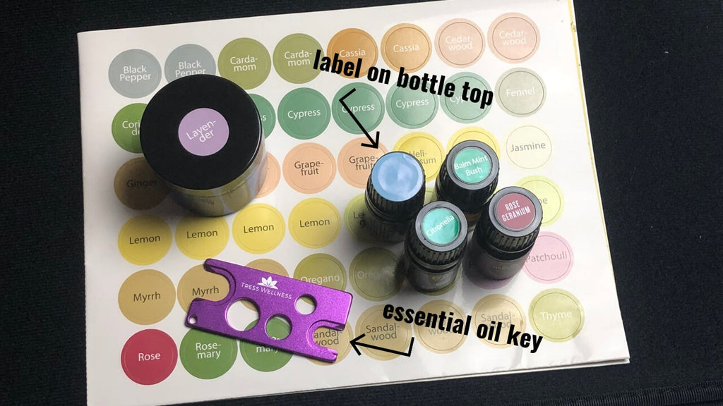 Case for Essential Oils with free oil key and bottle labels