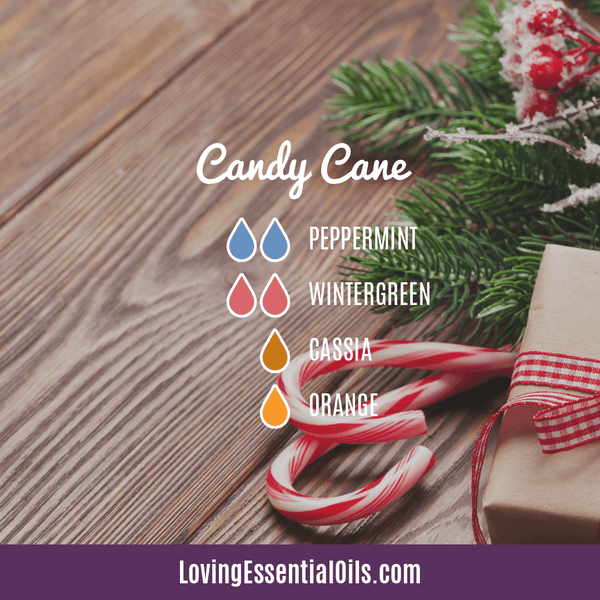Cassia Essential Oil Uses, Benefits & Recipes - EO Spotlight by Loving Essential Oils | Cassia Diffuser Blends Cand Cane with peppermint, wintergreen, cassia and orange