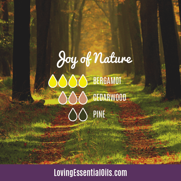 10 Cedarwood Diffuser Blends - Calm Stress and Gain Confidence by Loving Essential Oils | Joy of Nature with bergamot, cedarwood, and pine