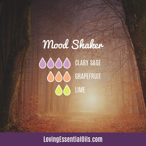 Clary Sage Diffuser Blend - Mood Shaker with clary sage, grapefruit, and lime essential oil