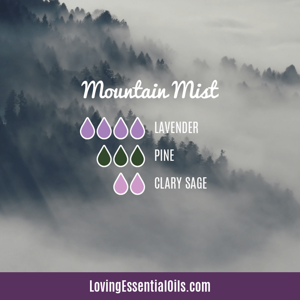 Clary Sage Diffuser Benefits - Mountain Mist with lavender, pine, and clary sage essential oil
