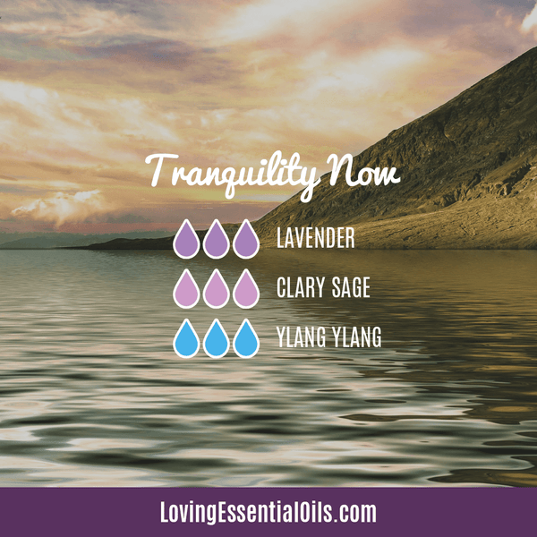 Clary Sage Essential Oil Blends - Tranquility Now with lavender, clary sage, and ylang ylang essential oil
