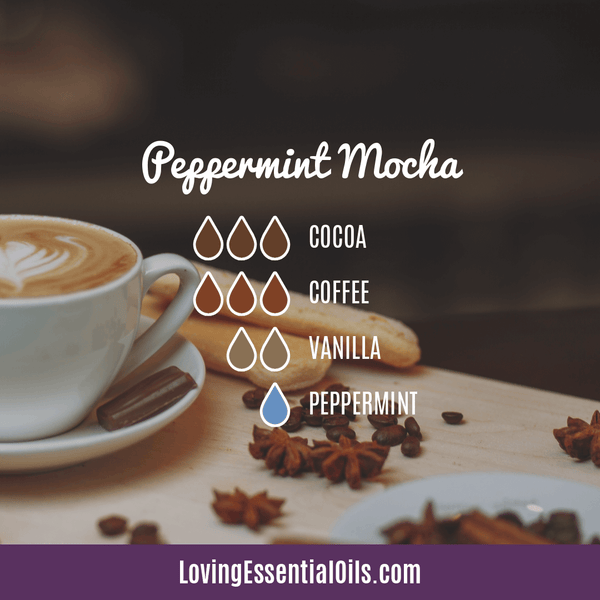 Coffee Essential Oil Uses, Benefits & Recipes - Peppermint Mocha Diffuser Blend - EO Spotlight by Loving Essential Oils