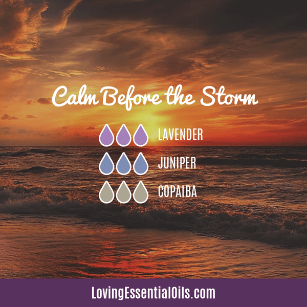 How to Diffuse Copaiba Essential Oil by Loving Essential Oils | Calm Before the Storm with lavender, juniper berry and copaiba