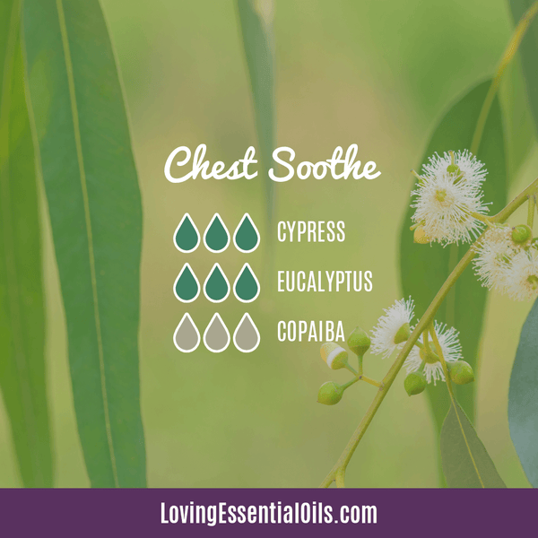 Diffuser Blends with Copaiba by Loving Essential Oils | Chest Soothe with cypress, eucalyptus, and copaiba